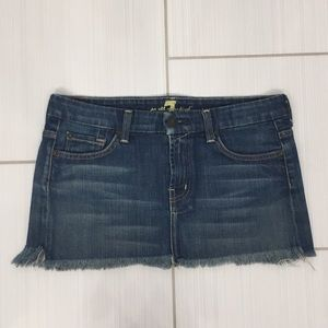 7 for all Mankind Mini Jean Skirt. Size 27